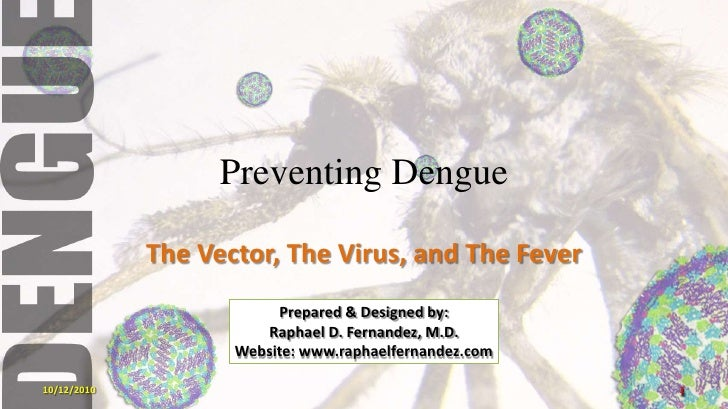 Preventing Dengue<br />The Vector, The Virus, and The Fever<br />Prepared & Designed by:<br />Raphael D. Fernandez, M.D.<b...