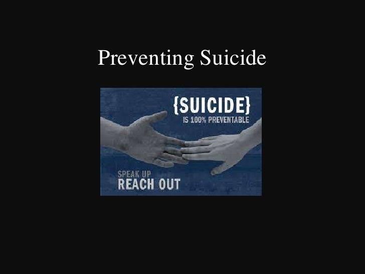 Preventing Suicide