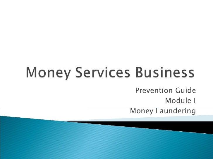 Prevention Guide Module I Money Laundering