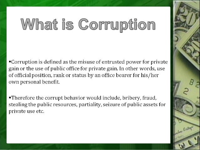 essay on corruption in easy words