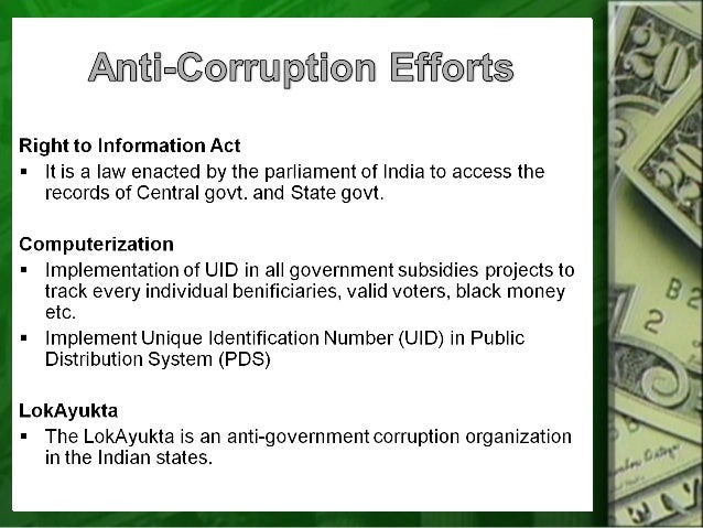 1248 words essay on Corruption in India (Free to read)
