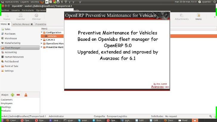 OpenERP Preventive maintenance