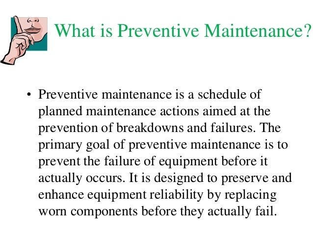 preventative maintenance schedule template download