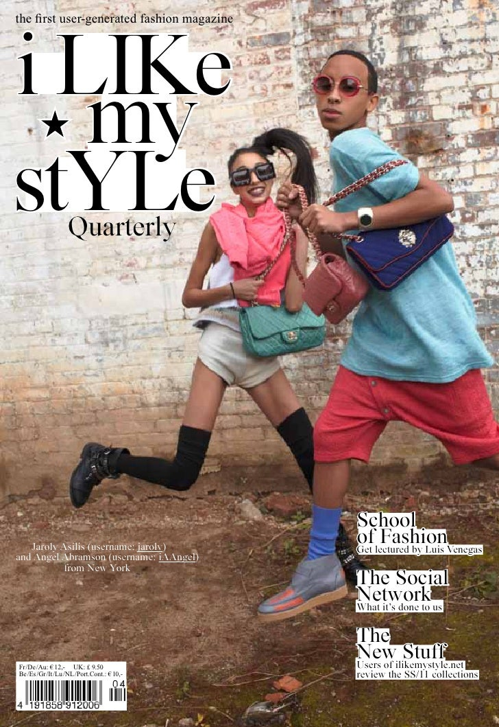 the first user-generated fashion magazinei like   mystYle           Quarterly                                            S...