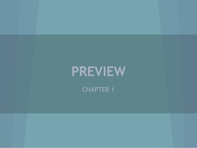 PREVIEW CHAPTER 1