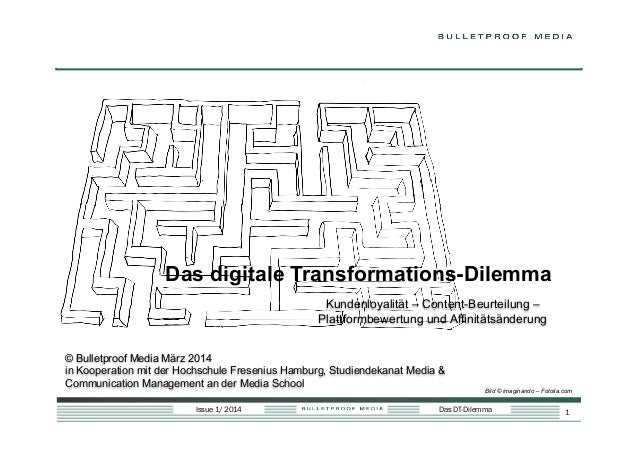 Das digitale Transformations-Dilemma Kundenloyalität – Content-Beurteilung – Plattformbewertung und Affinitätsänderung © B...