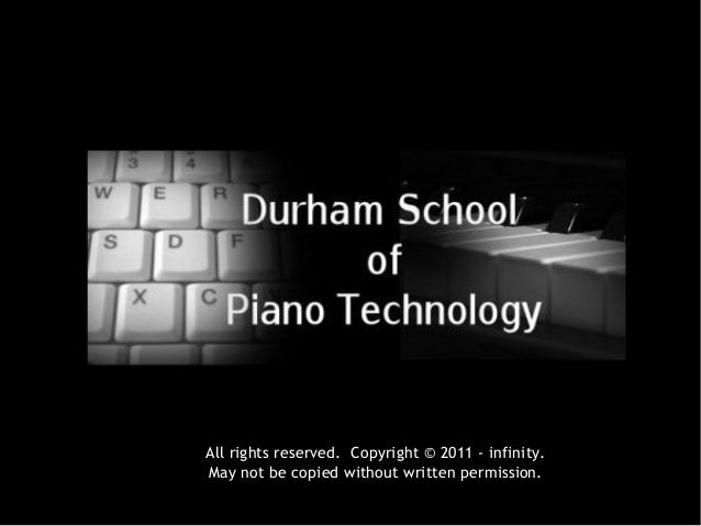 Durham School of Piano Technology Program Preview