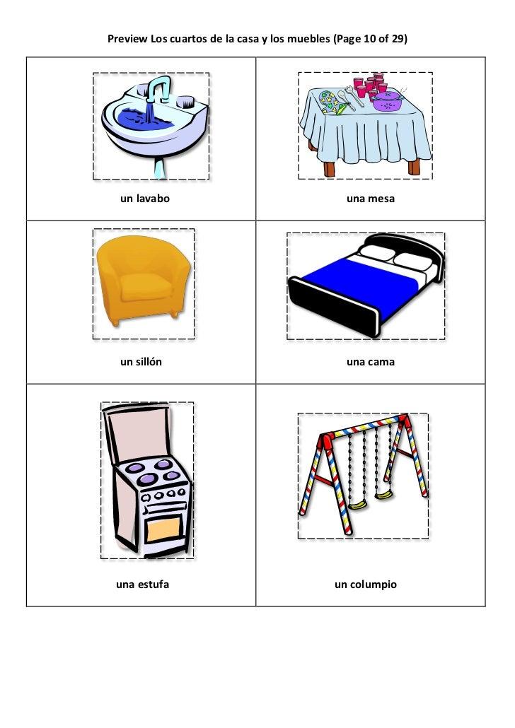 Preview los cuartos de la casa y los muebles for Casa y muebles en ingles