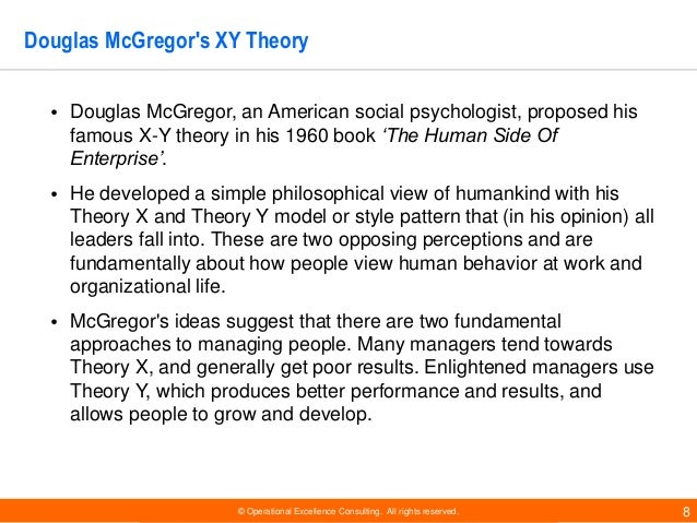 a descriptive analysis of douglas mcgregors theory of x and theory of y