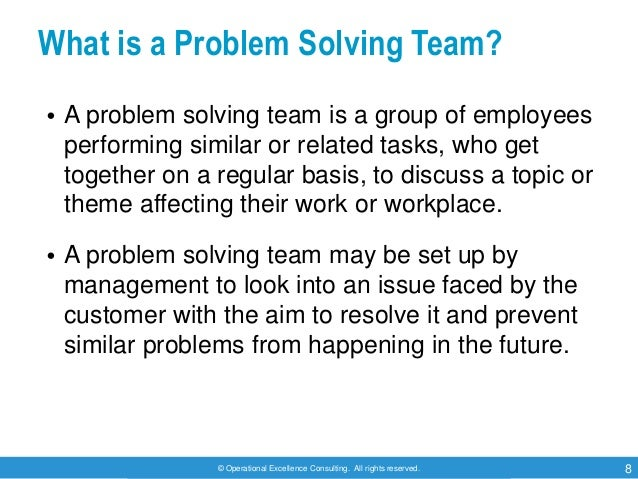 Problem Solving In Workplace