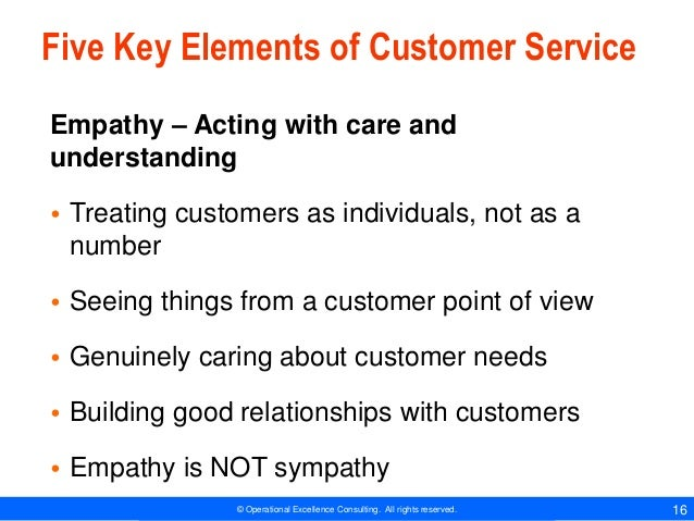the essential elements of a quality service