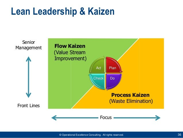 kaizen on waste elimination