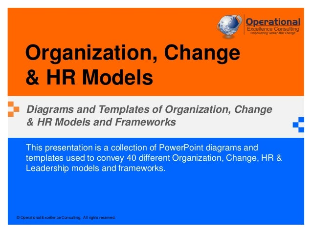 Organization, Change & HR Models by Operational Excellence Consulting