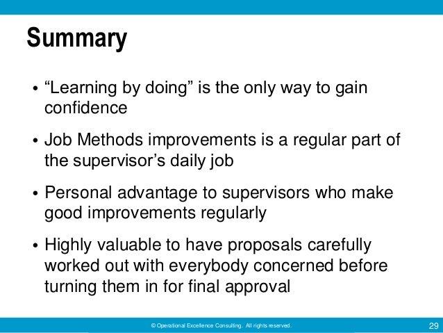 summary of learning