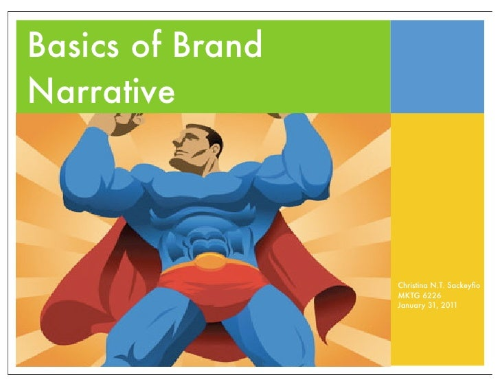 Basics of Brand Narrative