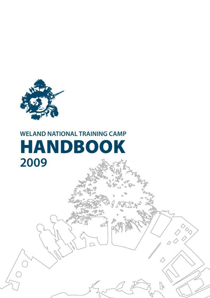 WELAND NATIONAL TRAINING CAMP  HANDBOOK 2009