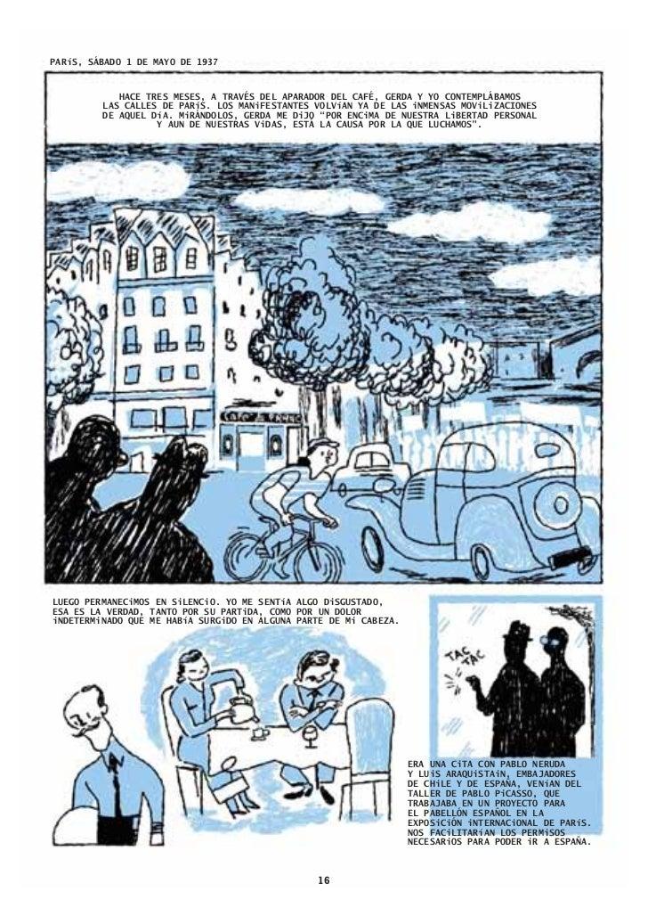 Preview Tristisima Ceniza, un tebeo de Robert Capa en Bilbao