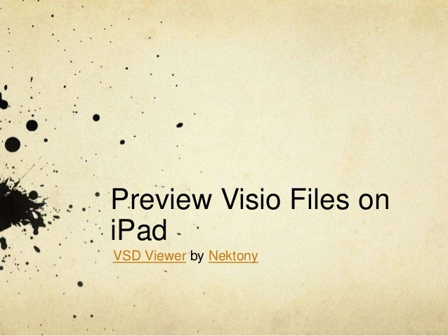 Preview Visio Files on iPad