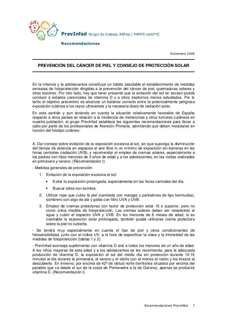 PrevInfad       Grupo de trabajo AEPap / PAPPS semFYC                 Recomendaciones                                     ...