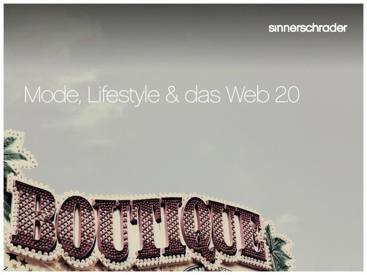 Mode, Lifestyle & das Web 2.0
