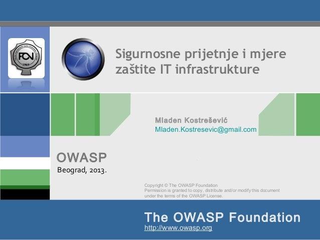 Sigurnosne prijetnje i mjere zaštite IT infrastrukture