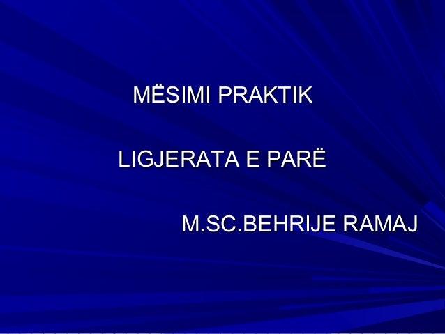 Prezantim 1 MSc Behrije Ramaj