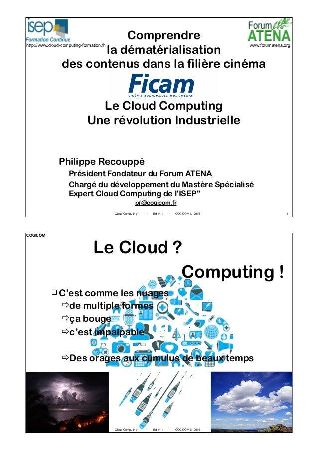 COGICOM  Comprendre la dématérialisation des contenus dans la filière cinéma  http://www.cloud-computing-formation.fr  www...