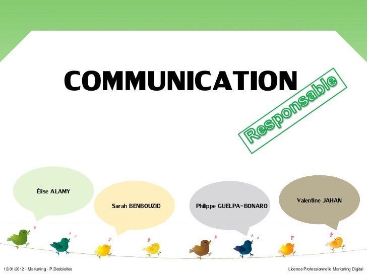 Exposé communication responsable  20120112 v2