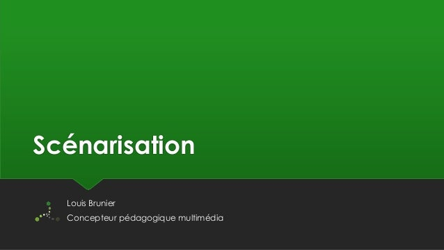 Scénarisation de modules e-learning