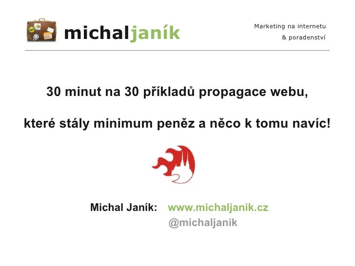 michaljaník                                      Marketing na internetu                                              & por...