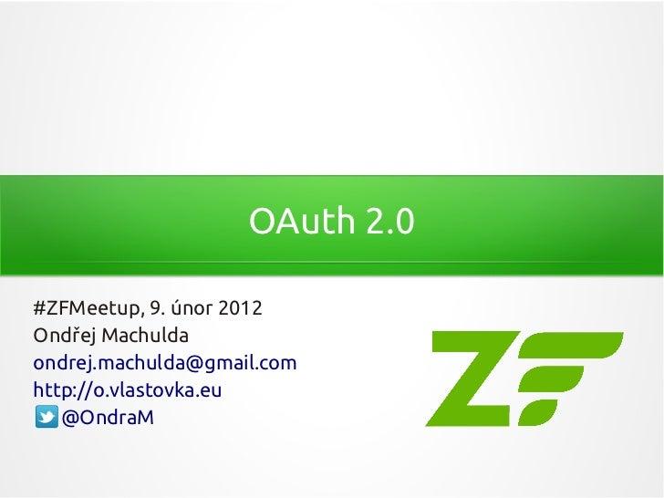 OAuth 2.0 a Zend Framework