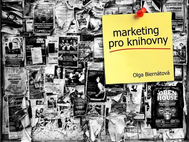 Marketing pro knihovny