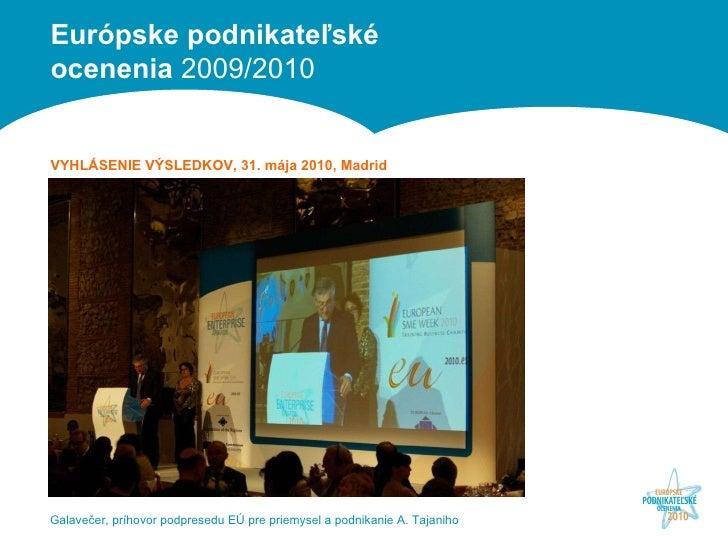 Galavečer, príhovor podpresedu EÚ pre priemysel a podnikanie A. Tajaniho