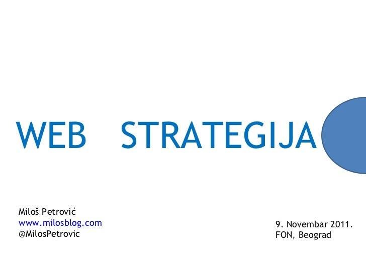 Web strategija