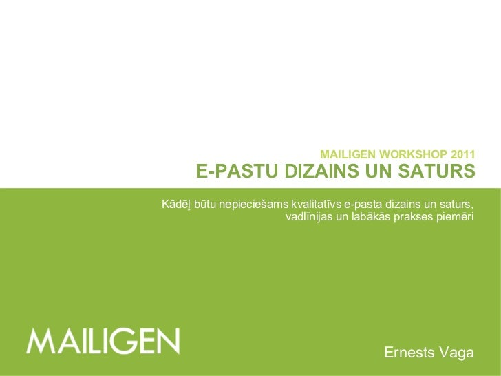 Mailigen Workshop 2011: E-pastu dizains