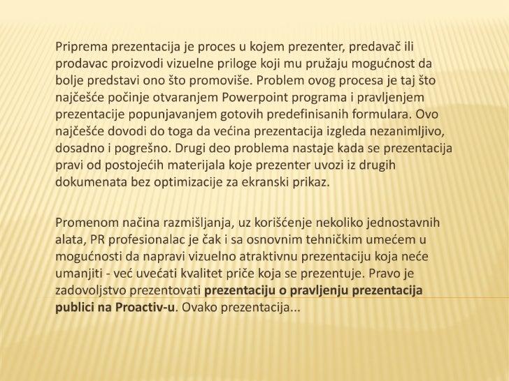 Prezentacija o prezentacijama  -  Ivan Ćosić