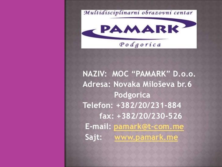 Prezentacija Pamark