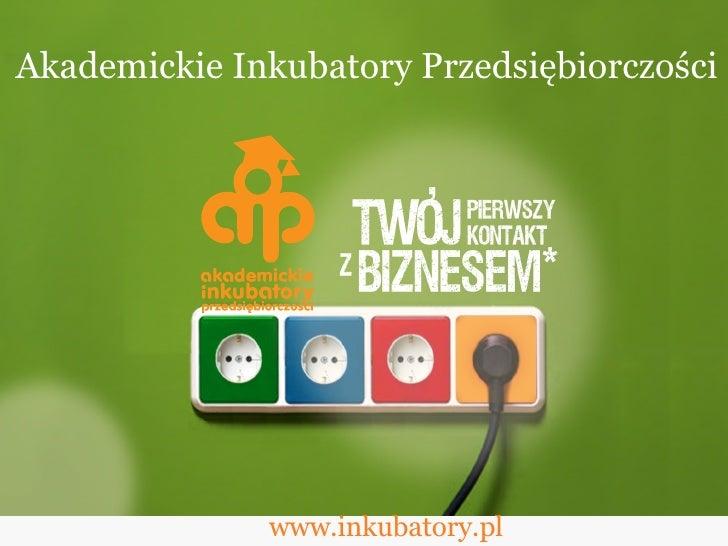 www.inkubatory.pl Akademickie Inkubatory Przedsiębiorczości