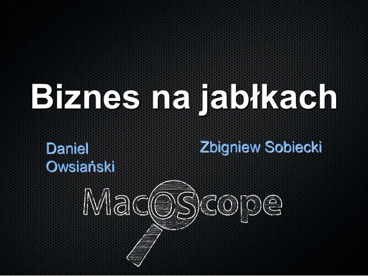 Biznes na jabłkachDaniel      Zbigniew SobieckiOwsiański
