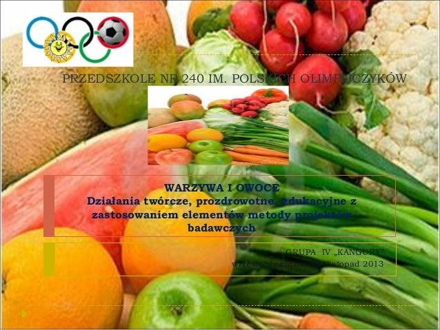 Warzywa i owoce projekt