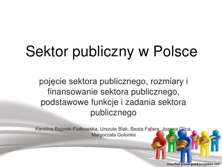 Ekonomia sektora publicznego -wykład - dr Bochenek