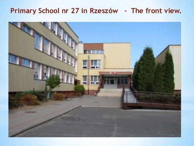 Primary School nr 27 in Rzeszów – The front view.