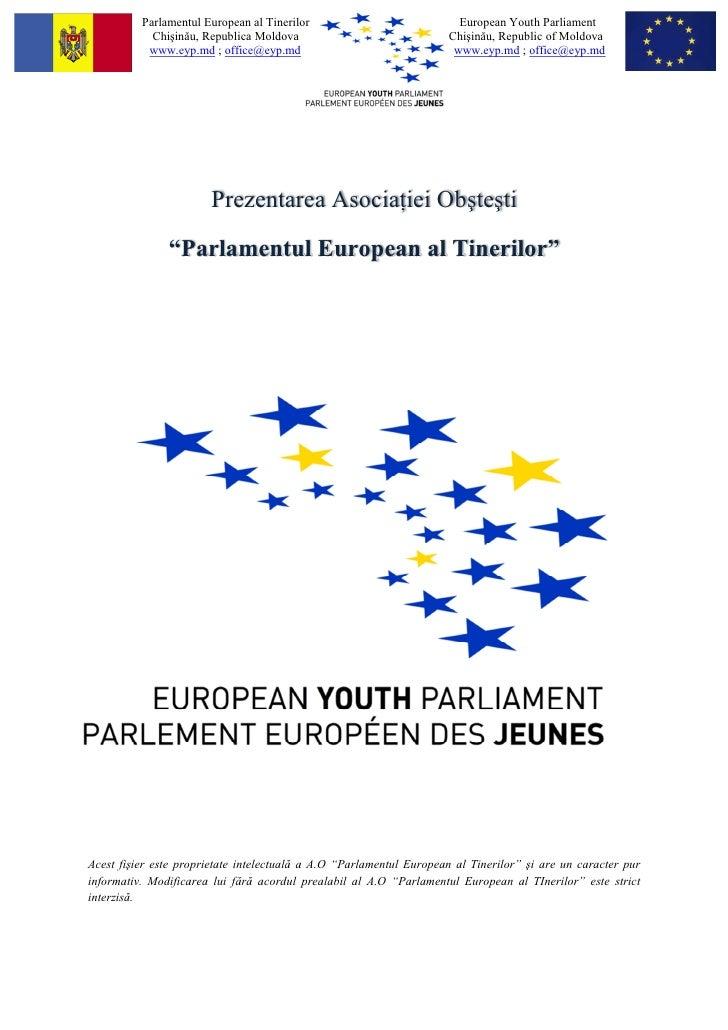 Prezentare - A.O Parlamentul European al Tinerilor