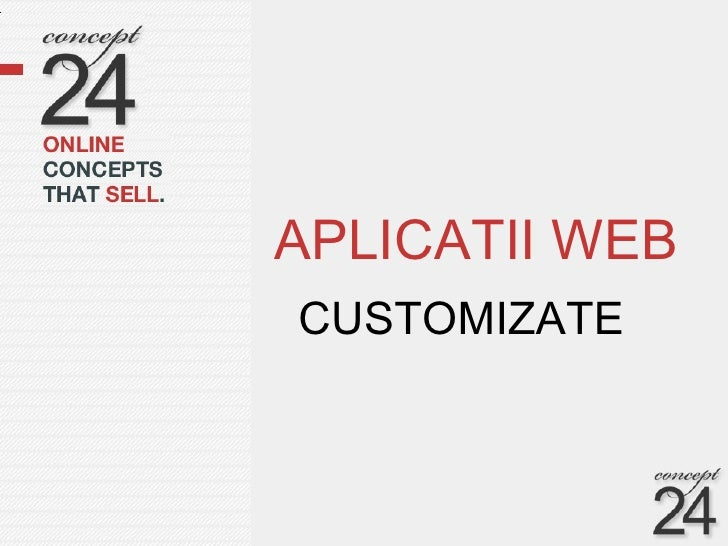 Prezentare aplicatii web   slide share