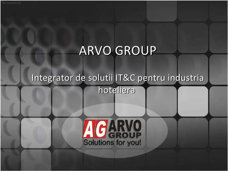 Prezentare ARVO GROUP_ro