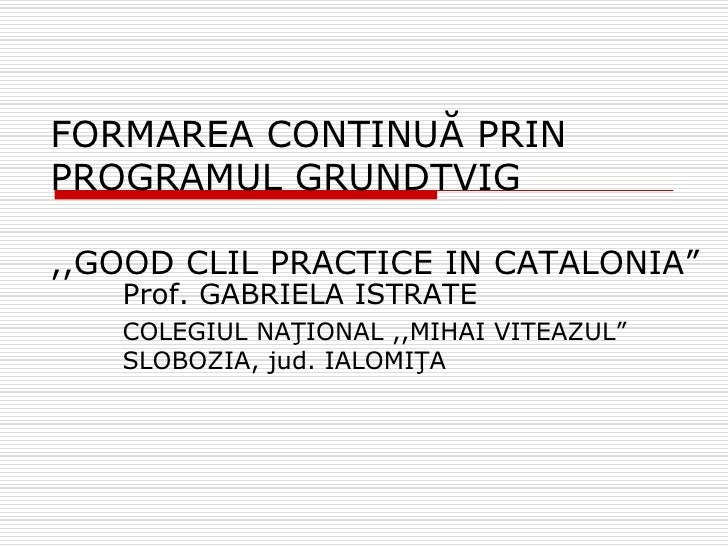 Prezentare Barcelona-Grundtvig course