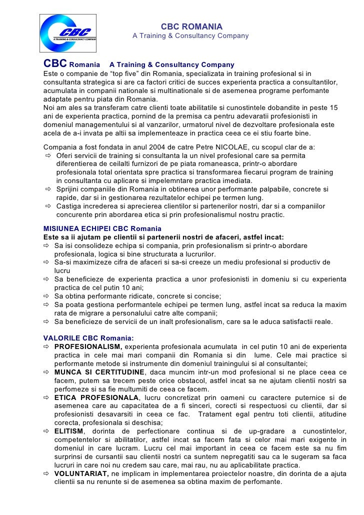 CBC Romania A Training & Consultancy Company