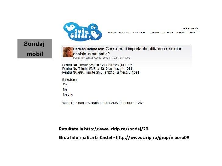 Microblogging in educatie. Studiu de caz: Cirip.ro