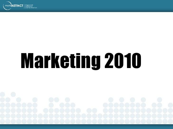 Marketing 2010