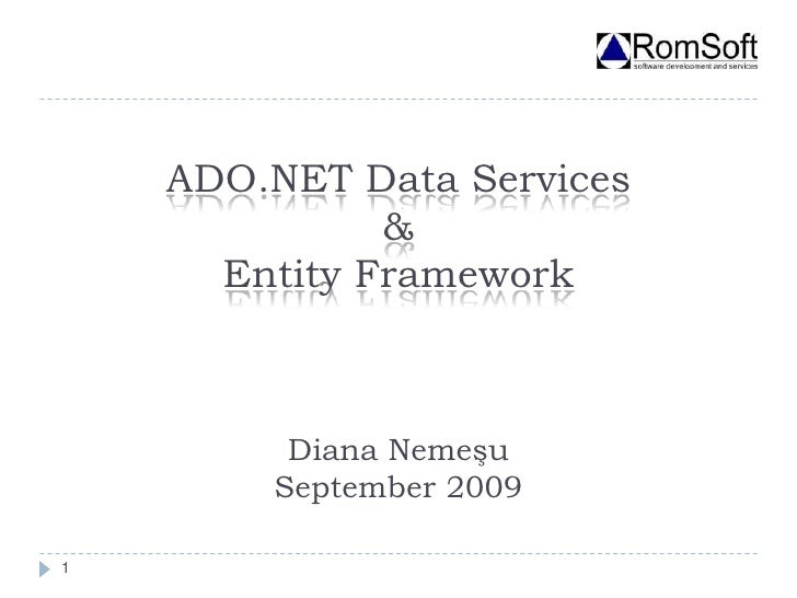 ADO.NET Data Services & Entity Framework